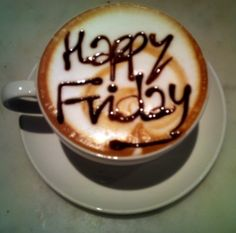 #Happy Friday Pinterest! I love my hot chocolate. Today is when the fun start. Happy Friday!