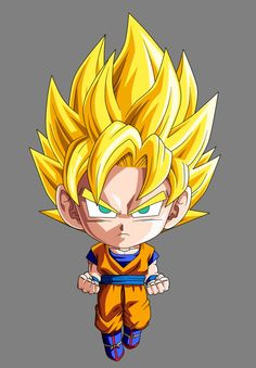 Goku (Super Saiyan) (Dragon Ball Z) (c) Toei Animation, Funimation & Sony Pictures Television Dragon Ball Gt, Dragon Z, Chibi Goku, Anime Chibi, Dragonball Evolution, Dragonball Super, Goku Super, Super Saiyan, Madara Wallpaper