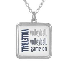 Zazzle Volleyball Game On Necklace #zazzle #jewelry #volleyball #necklace