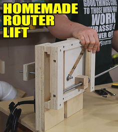 ❧ Homemade Router Lift Number