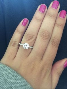 center stone 1.3 ct Show me your 1.5 round brilliant erings! - Weddingbee | Page 2
