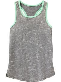 Girls Old Navy Active Go-Dry Space-Dye Tanks