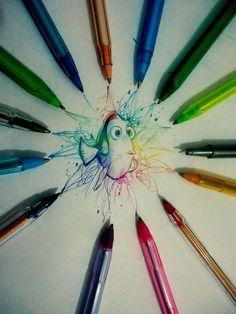 Desenhos de um garoto solitário