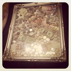 Fun way to display all them foreign coins you have collected over the years
