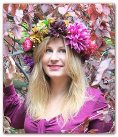 A fall flowers crown - DIY @Clementine Berlioz
