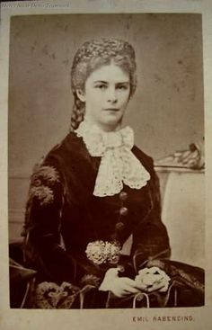 1867 Elisabeth wearing dark dress by Emil Rabending. Repinned by www.gorara.com