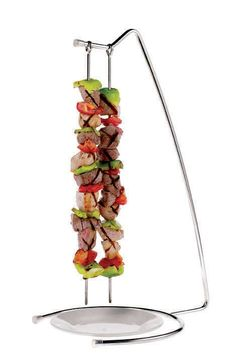 Stainless Steel 4-Skewer Stand