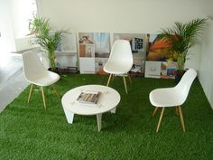 fake grass for the sunroom, then lots and lots of flower cushions....