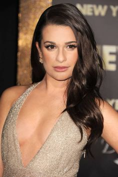 Lea Michele's sexy, undone waves go with lush lases at the New Year's Eve premiere in 2011