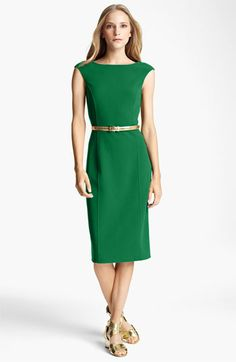 Michael Kors sheath dress in #emerald. #coloroftheyear #Nordstrom cc @PANTONE COLOR