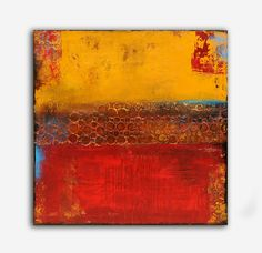 Landscape abstract textured painting by erinashleyart on Etsy, $249.00