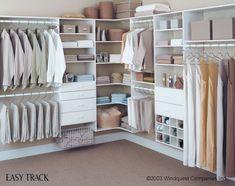 DIY Walk-In Closet Systems | Long hanging – Long dresses Medium hanging – Shorter dresses ... #closetsystem #customclosetsystems