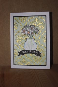 Card made with Clearly Besotted stamp