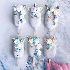 Always be yourself, unless you can be a unicorn, then always be a unicorn.  We'd love to see these served as #wedding #desserts! #unicornpops @rymondtn