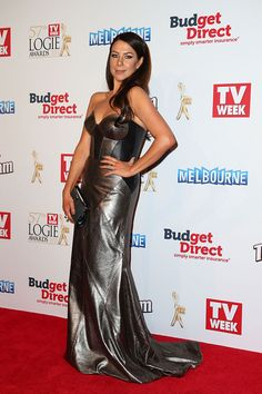 2015 Logies in pictures : 'Home and Away' legend Kate Ritchie stuns on the red carpet. Strapless Dress Formal, Formal Dresses, Home And Away, Gray Dress, Red Carpet, Awards, Australia, Celebrities, People