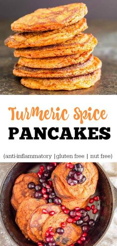 Spice Pancakes (gluten free and nut free) Delicious and easy anti-inflammatory breakfast.Delicious and easy anti-inflammatory breakfast. Gluten Free Recipes, Gourmet Recipes, Whole Food Recipes, Bean Recipes, Gluten Free Breakfasts, Healthy Breakfast Recipes, Diet Breakfast, Breakfast Quesadilla, Breakfast Muffins