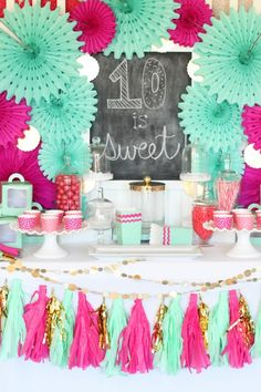 cupcake wars birthday party dessert table