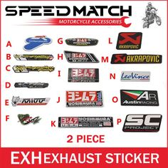 Cbr twobrothers two brother auto Akrapovic Exhaust Muffler Decal Waterproof Car 3M yoshimura Sticker Motorcycle Decals Moto Gp. Yesterday's price: US $2.99 (2.47 EUR). Today's price: US $2.69 (2.22 EUR). Discount: 10%.