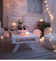 Image about white in Home 🏡 Deco👍 by Cillyhammes. Led Glow Lights, Ball Lights, Light Led, Night Light, Outdoor Spaces, Outdoor Living, Outdoor Decor, Home And Deco, My Dream Home