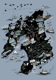 Islay treasure map - Whisky Distilleries - Scotland - Stephanie von Reiswitz -