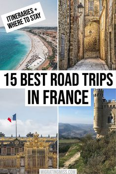 15 Amazing Road Trips in France - Migrating Miss Road Trip Essentials, Road Trip Hacks, Road Trips, Family Vacation Destinations, Cruise Vacation, Family Vacations, Disney Cruise Tips, Medieval Town, South Of France