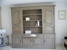 Relooking meuble bibliothèque chêne une création personnalisée Le Havre.