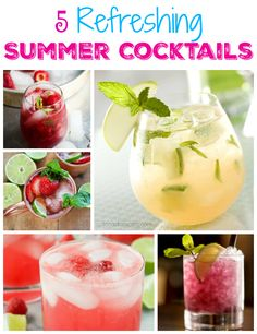 refreshing memorial day drinks