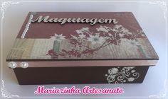 Caixa em MDF decorada. #mariazinhaartesanato #mdf # caixadecorada #handmade #artesanato