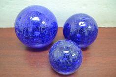"Cobalt Blue Decorative Reproduction Blown Glass Float Fishing Buoy Ball 3"" 4"" 5"""