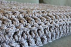 Chunky blanket (use chunky yarn and big hook)