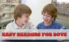 Looking for some fun and easy reading books for your boys? Here is a really cool list! | www.beyondthecoverblog.com