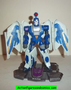 "Hasbro TRANSFORMERS ""Titanium"" 6 inch series SCOURGE 100% COMPLETE condition: overall excellent - display only collectable condition Figure size: approx. 6 inch ---------------------------------------"