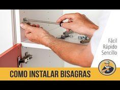 ¿Cómo colocar bisagras en las puertas de melamina?