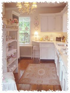 Adorable Shabby chic kitchen