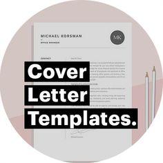 Letter Designs, Cover Letter Design, Cover Letter Template, Letter Templates, Resume Templates, Best Cover Letter, Cover Letter Example, Resume Ideas, Professional Resume