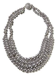 Nothing says classic more than a pearl necklace.  We love this beautiful layered grey pearl necklace from Banana Republic.