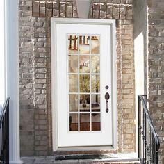 Pella Venetian White Full View Tempered Glass Blinds