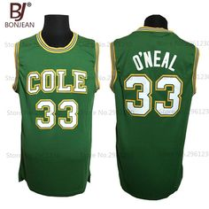 ce54b97102a Cheap 33# Shaq O'NEAL COLE High School Basketball Jersey Shaquille Oneal  Stitched Throwback Shirts 3 Color Free Shipping-in Basketball Jerseys from  Sports ...