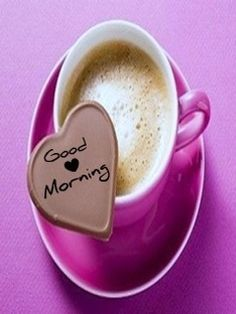 Good Morning With Cup Of Coffee Heart