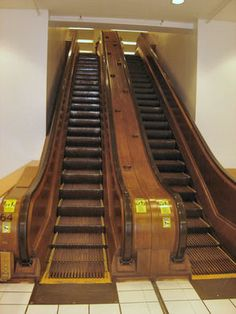 Discover Macy's Wooden Escalators in New York, New York: A bit of retro transportation flair preserved in the world's largest department store. Cow Girl, Cow Boys, Otis Elevator Company, Macy's Herald Square, Nostalgia, Wooden Stairs, Upstate New York, Stairway To Heaven, Department Store