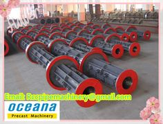 Pre-tensioned concrete pile/pole steel mould in china factory