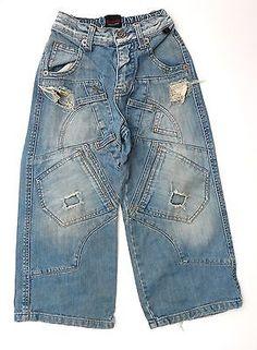 "ROBERTO CAVALLI ""DEVILS"" Boy's Ripped Jeans, Distressed Denim, Size 4"