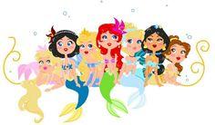 Princesses mermaid