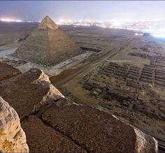 Sneaky shot from the pyramids of Egypt