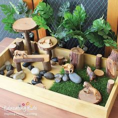 Our Sand & Sorting Tray is ideal for creating a small world animal play box. Montessori Activities, Preschool Activities, Early Childhood Centre, Small World Play, Play Spaces, Backyard For Kids, Animals Of The World, Diy Toys, Pre School