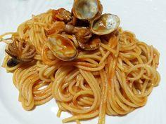 Spaghetti al sugo di moscardini e arselle  #ricettedisardegna #sardegna #sardinia #food #recipe #cucinasarda