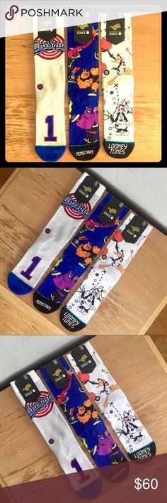 530250c8e19 ... Toon Squad. See more. 🔥NEW Stance Space Jam Socks L-XL 3-Pack NWT🔥 3  pairs