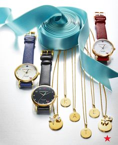 For your besties, initial pendants and leather strap watches from kate spade new york that they can pair with any outfit.