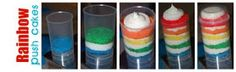 Simply Creative Insanity: Rainbow Push Pop Cakes Tutorial