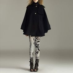 coat/ cape/cashmere coat / black coat/ cape SALE FM075 by RenzRags, $118.00 Highly doubt it looks good on me but it looks so nice~
